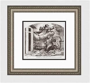 Raphael 1649 Engraving Vatican God's Promise to Abraham