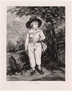 Sir Joshua Reynolds Viscount Althorp as a Boy etching