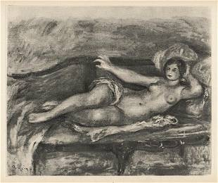 Limited Edition 1919 RENOIR Engraving Nude Reclining on