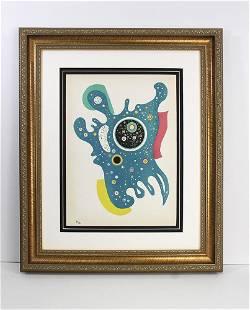 Wassily Kandinsky 1938 Original Stars Lithograph Framed