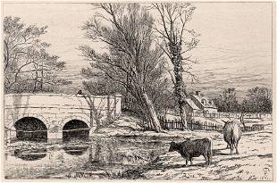 Richard Samuel Chattock Bridge on the River Blythe 1871