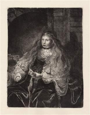Rembrandt The Great Jewish Bride c. 1880 etching