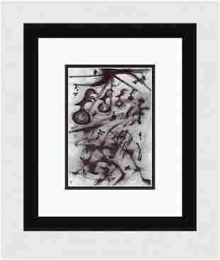 Patrick Mcdowell Cluckers Ink on paper signed