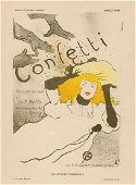 1896 Toulouse Lautrec Confetti one of 25 on Japon with