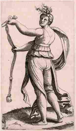 Raphael Temperance Antique Durand Engraving