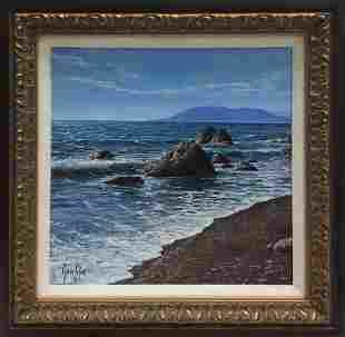 Marcos Esteve Painting Seascape 12 x 12