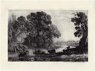 Claude Lorrain Le Bouvier (The Herdsman) 1878 etching