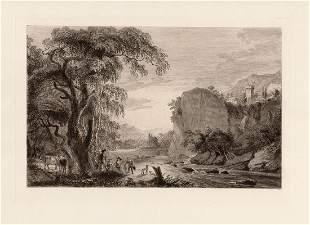 Paul Sandby Landscape 1888 etching