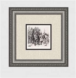 1800's Albrecht Durers The Robber Antique etching