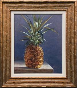 Detailed Malthon Original Oil Painting Pineapple