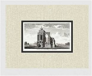A View of Crowland Abbey in Lincolnshire 1776 Engraving