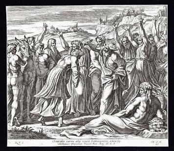 Raphael 1649 Engraving Vatican Solomon Annointed