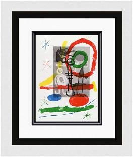 1965 Original Joan MIRO Color Lithograph Authentic