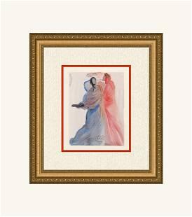 Dali 1960 Woodcut Signed Framed