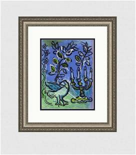 Marc Chagall Original Lithograph Candlestick M366