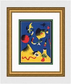 Joan Miro 1937 lithograph Air signed