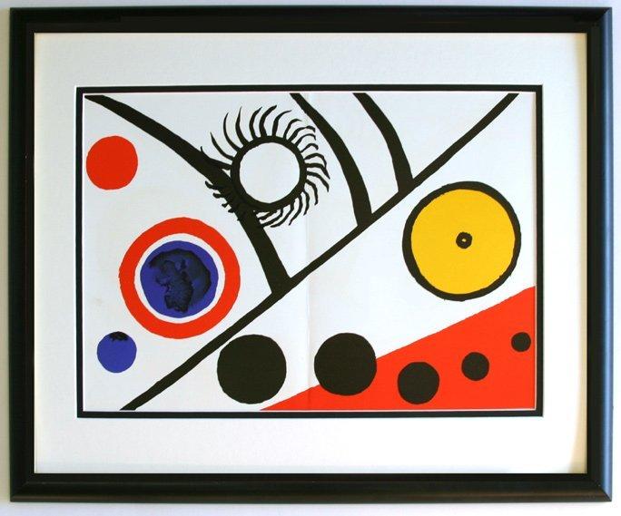 Alexander Calder Lithograph Framed Sun Moon