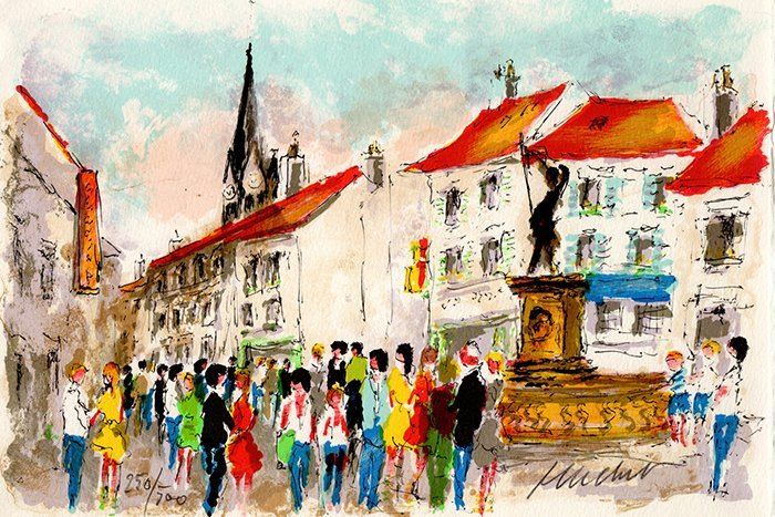 Urbain Huchet Signed/Numbered Lithograph France