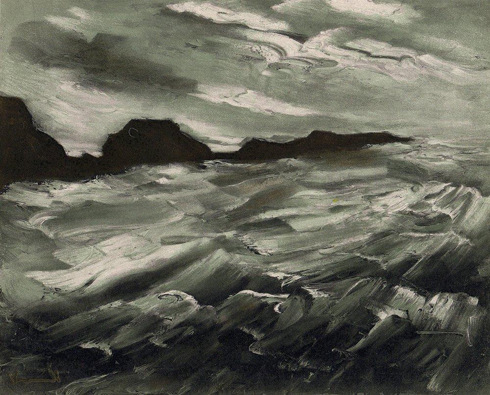 Maurice de Vlaminck Color Lithograph The Sea