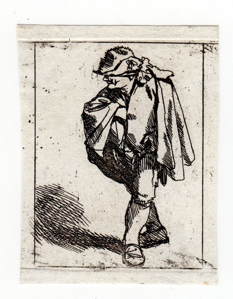 Cornelis Bega Man with Cape etching