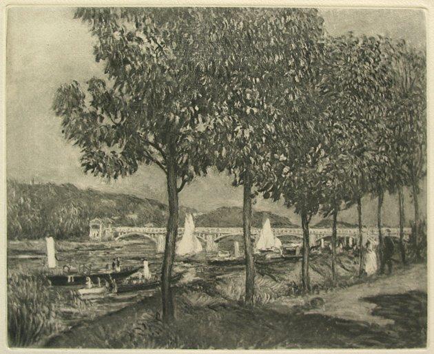 Pierre Renoir Argenteuil Heliogravure 1919