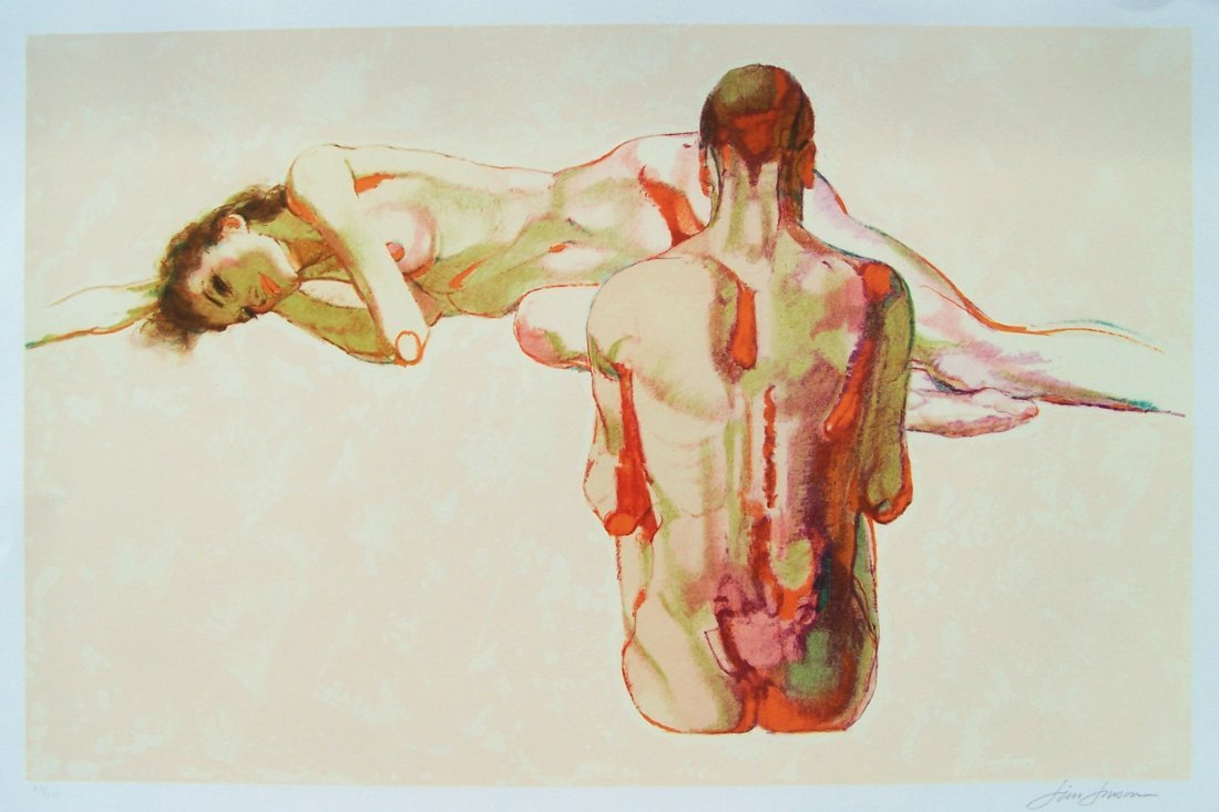 Limited Edition Jim Johnson Nude Lithograph