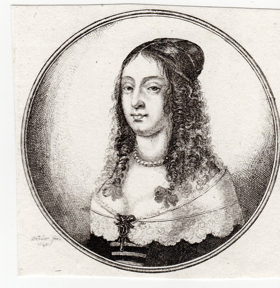 Wenceslaus Hollar Etching Portrait of a Woman