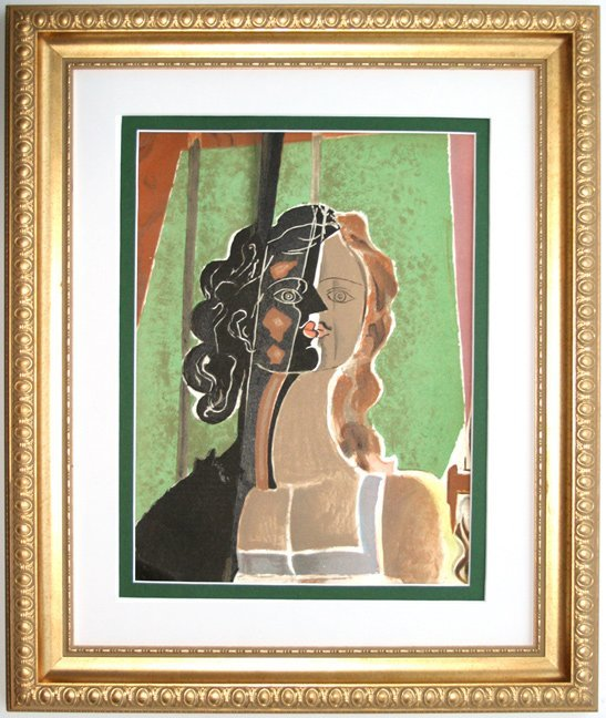 Georges Braque 1939 Lithograph Figure