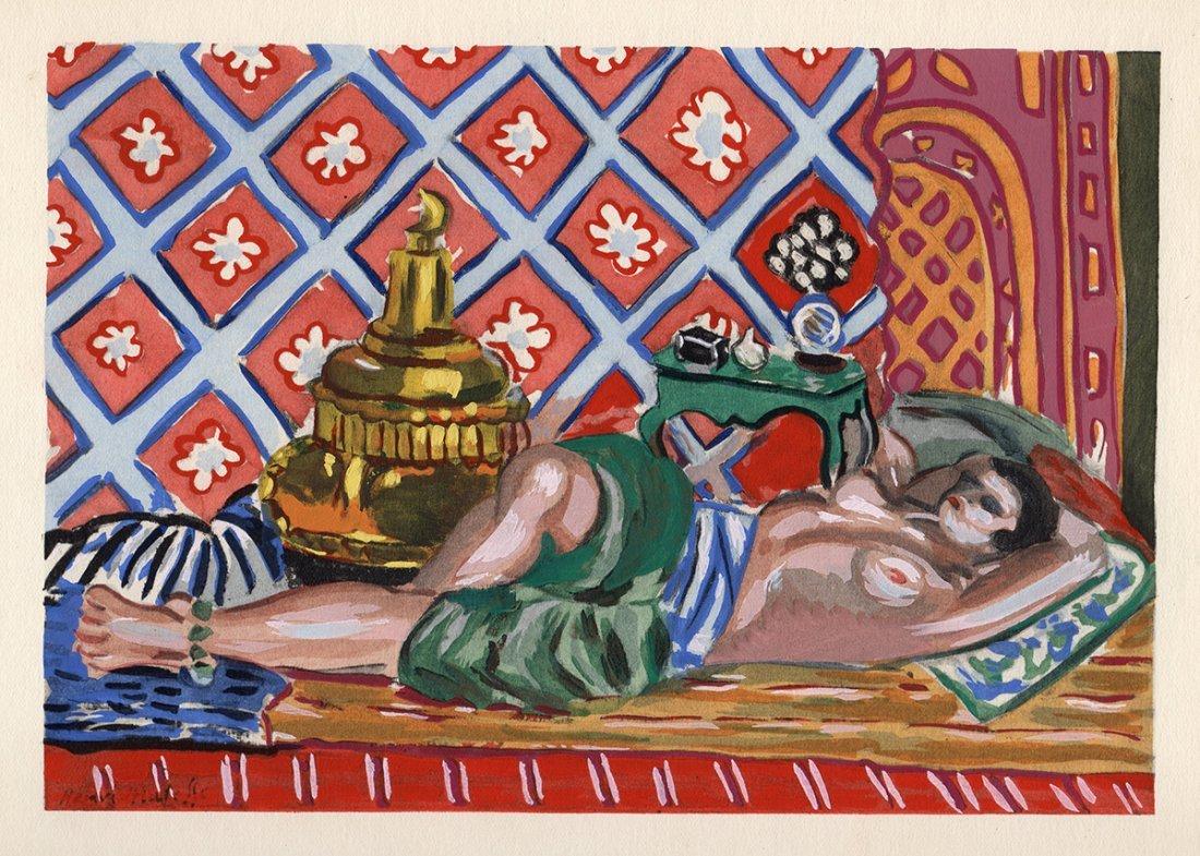 Henri Matisse 1929 Hand painted Pochoir NUDE