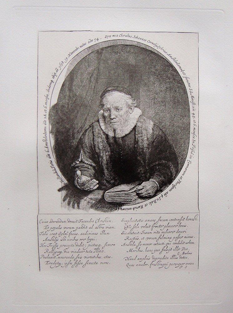 Rembrandt Jan Cornelius Sylvus etching