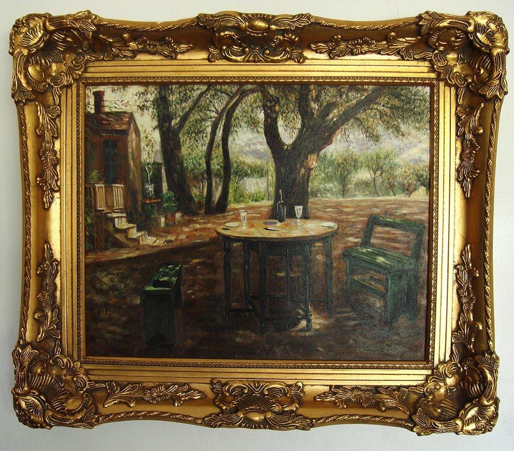 French Oil painting Landscape Framed