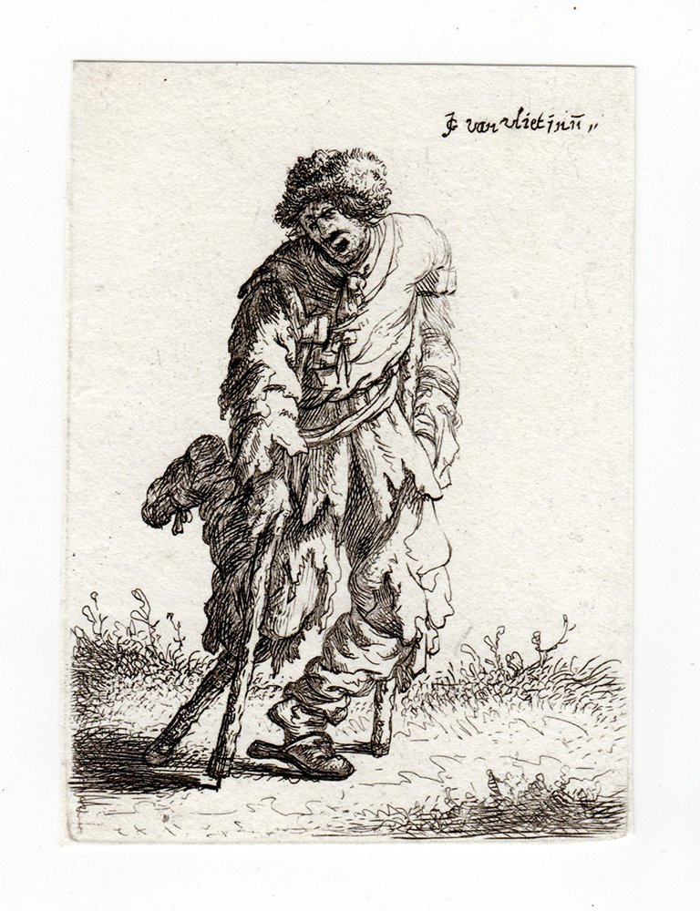 Jan Joris van Vliet Beggar etching