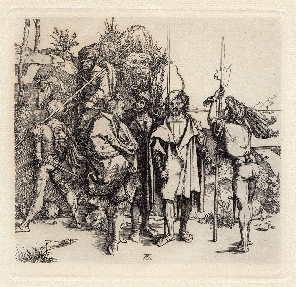 Albrecht Durer Robbers Etching Antique