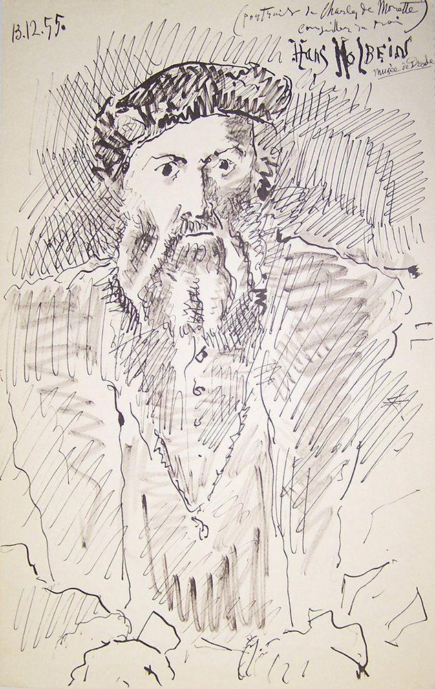 Picasso Antique Lithograph 1959 Holbein