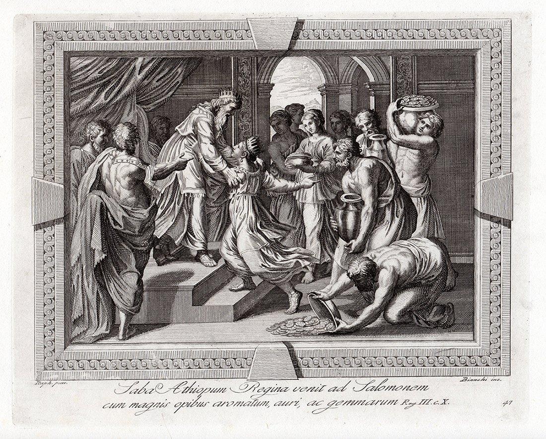 Raphael 1791 Religious etching Solomon