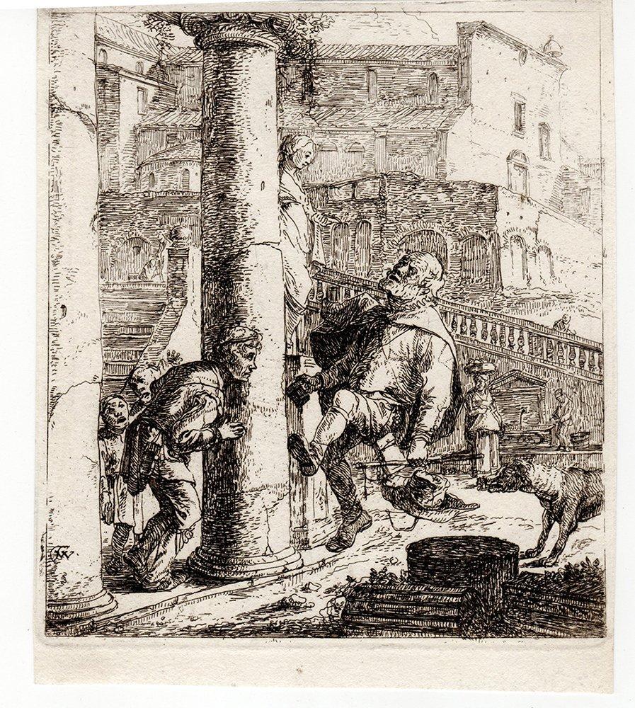 Thomas Wyck A Peddlar Dancing etching