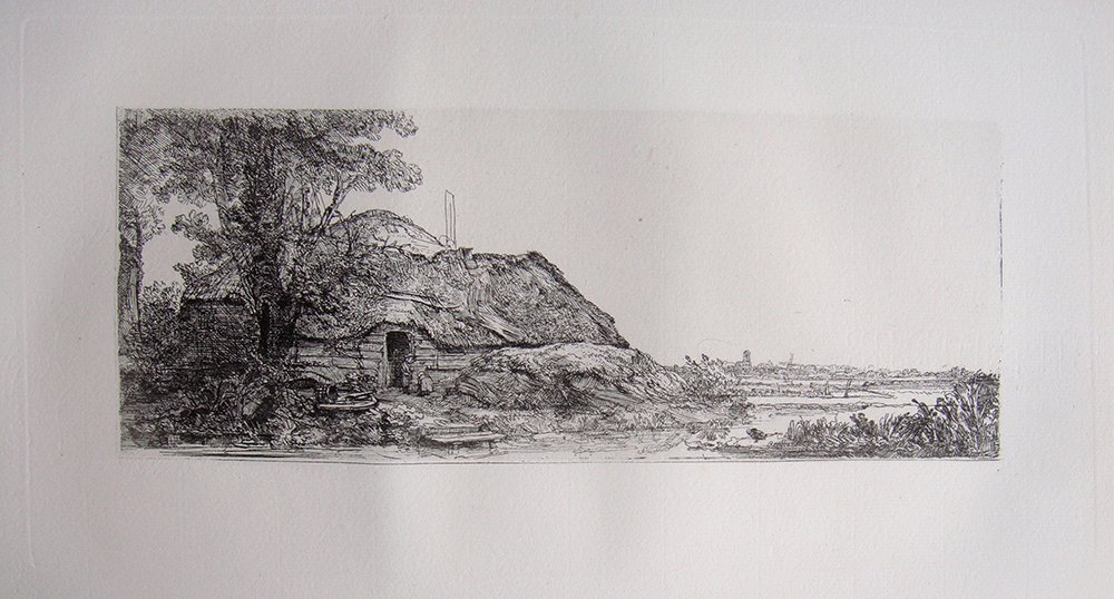 Rembrandt Cottage and Large Tree 1800s