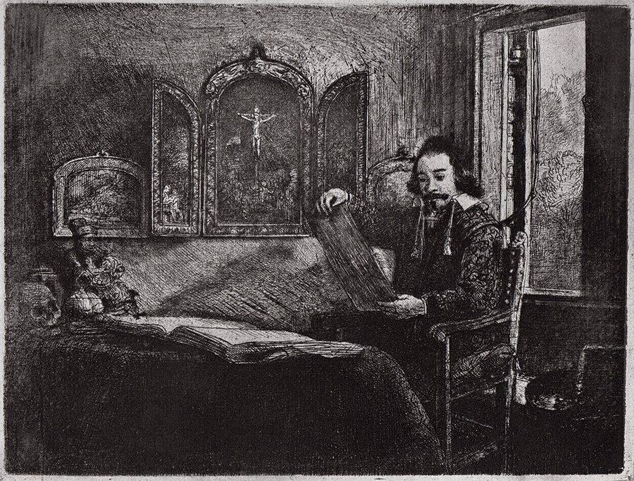 Rembrandt Abraham Franz etching 1800's