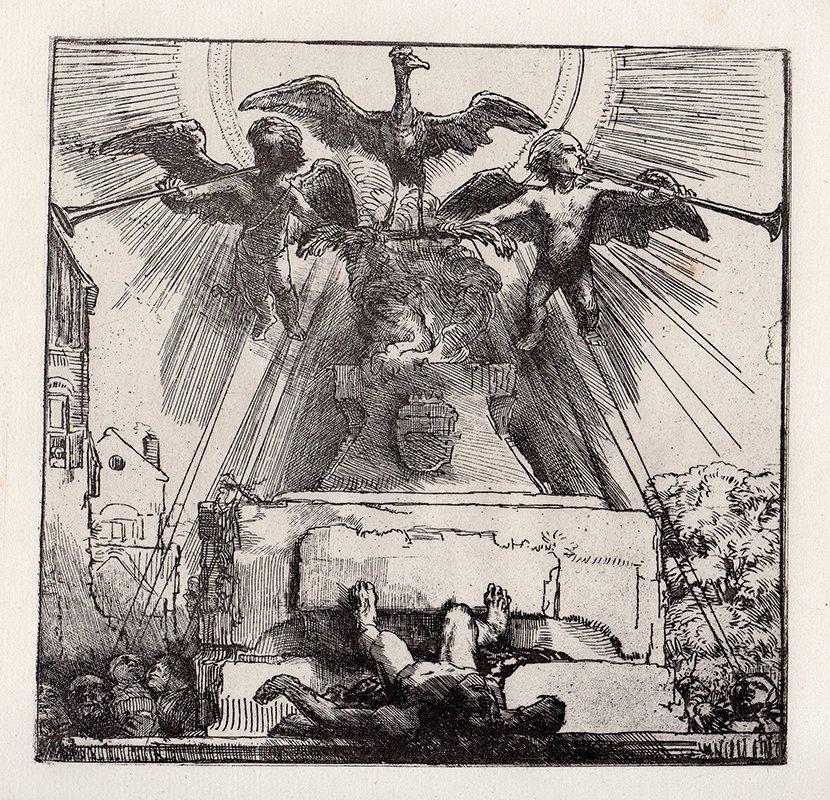 Rembrandt Allegorical Tomb/Pheonix