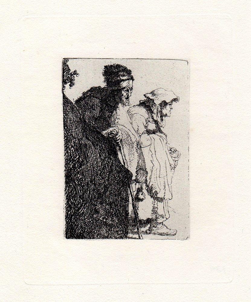 Rembrandt Beggar Man and Woman