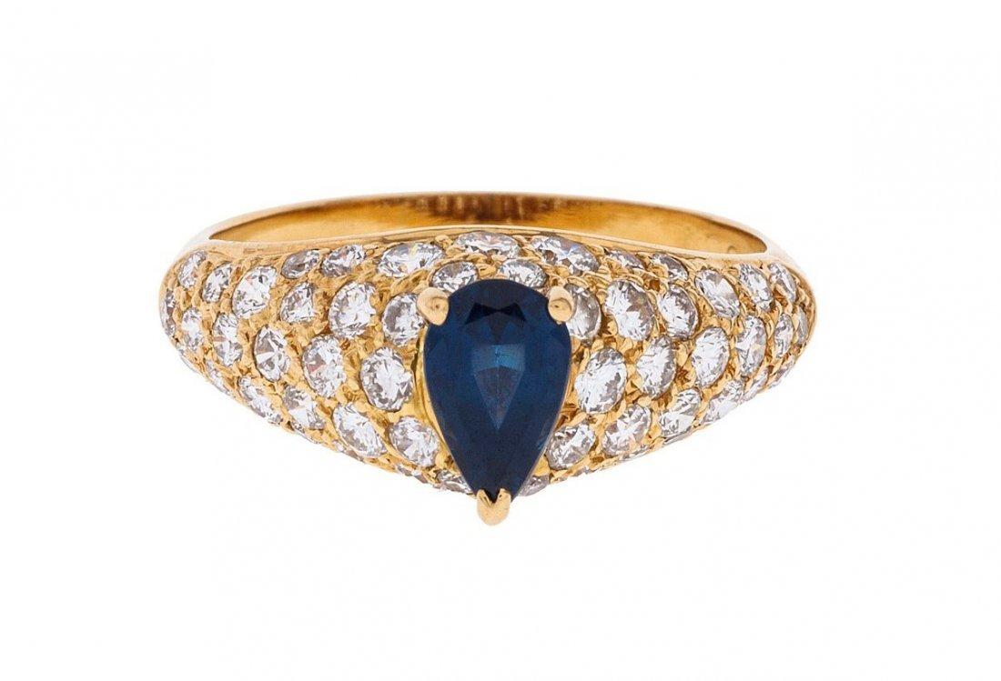 Cartier Sapphire Diamond Ring 18kt