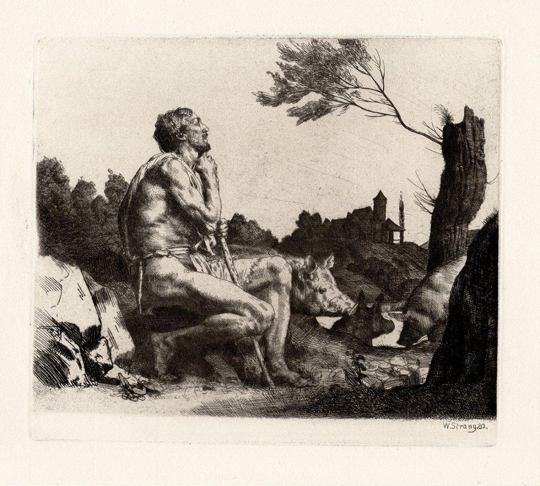 William Strang Original etching Prodigal Son