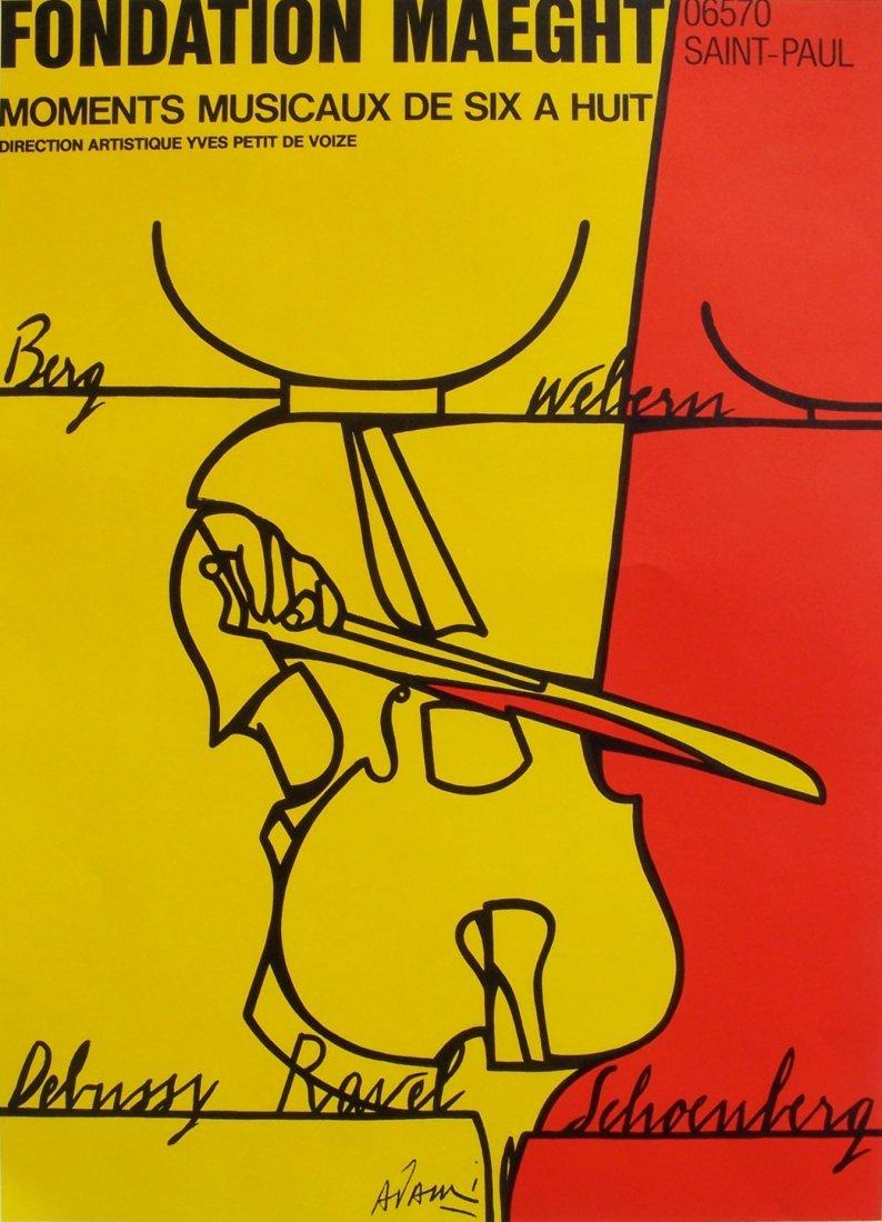 Valerio Adami Exhibition Poster Galerie Maeght