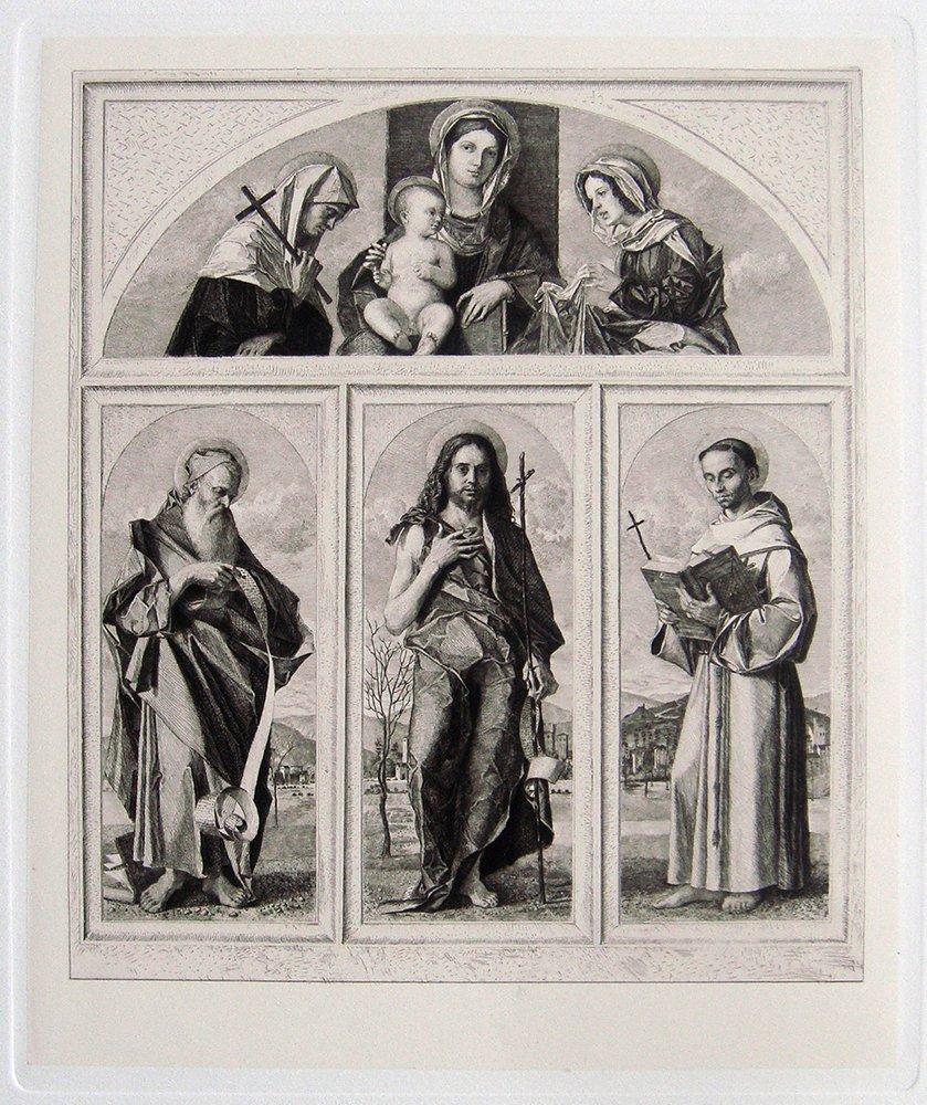 Marco Basaiti St John and St Francis etching