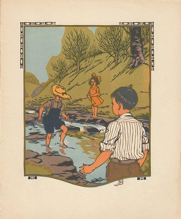 Gustave Baumann Original color woodcut