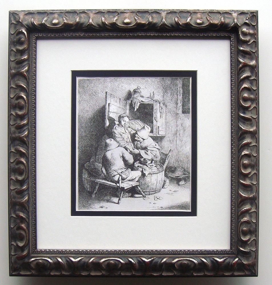 Cornelis Bega Peasants with Barmaid etching