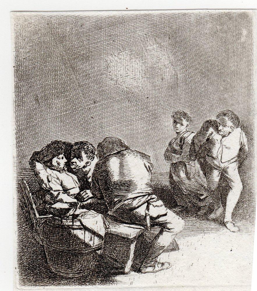 Cornelis Bega Woman Seated etching