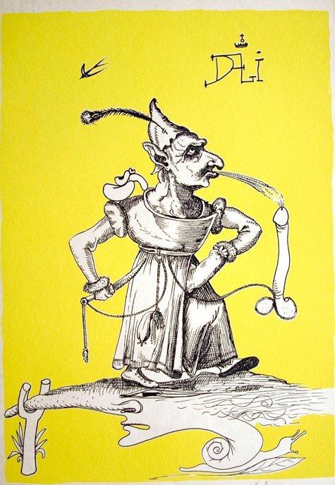 Salvador Dali Hand Signed Pantagruel Japon Original