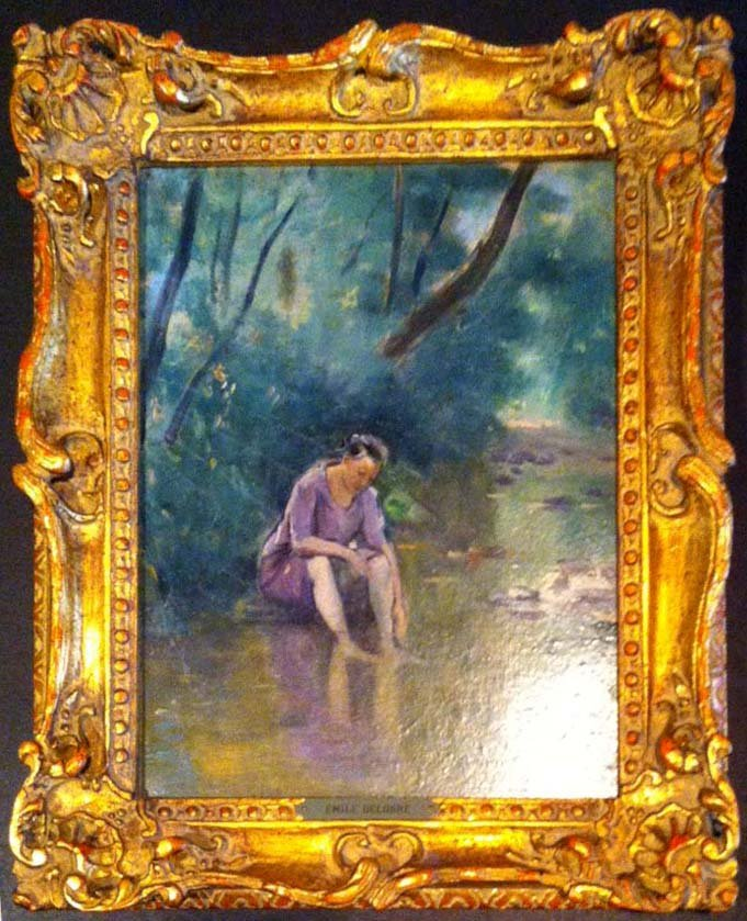 Impressionist Emile Delobre Oil Painting
