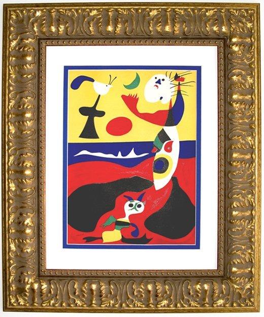 Joan Miro 1938 Lithograph Summer Framed
